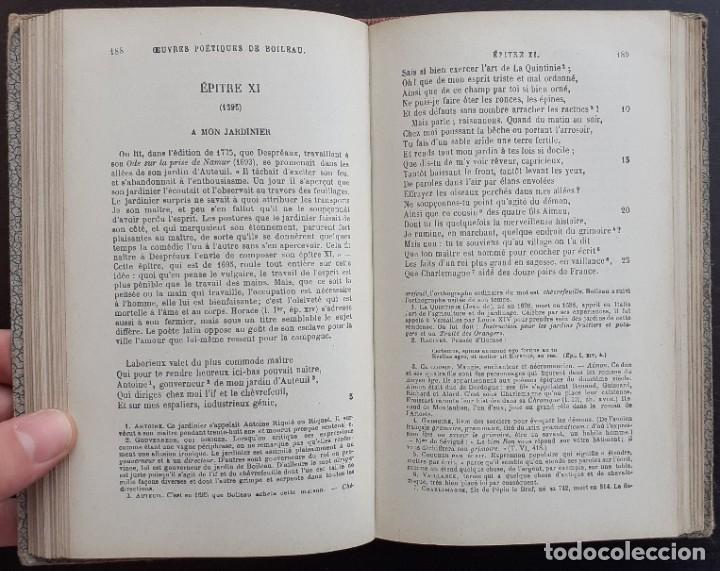 Libros antiguos: Año 1890 - Boileau-Despréaux: Obras Poéticas - Sátiras - Epístolas - Arte Poética - Poesía - Foto 7 - 205361106