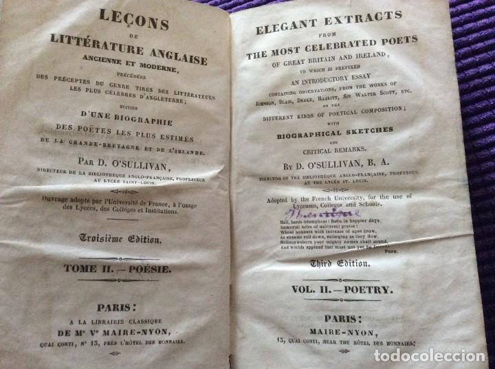 LECCIONES DE LITERATURA INGLESA ANTIGUA Y MODERNA, PRECEDIDAS ...POR D. O´ SULLLIVAN, 183? (Libros antiguos (hasta 1936), raros y curiosos - Literatura - Poesía)