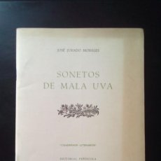 Libros antiguos: SONETOS DE MALA UVA - POESIA. Lote 205689822
