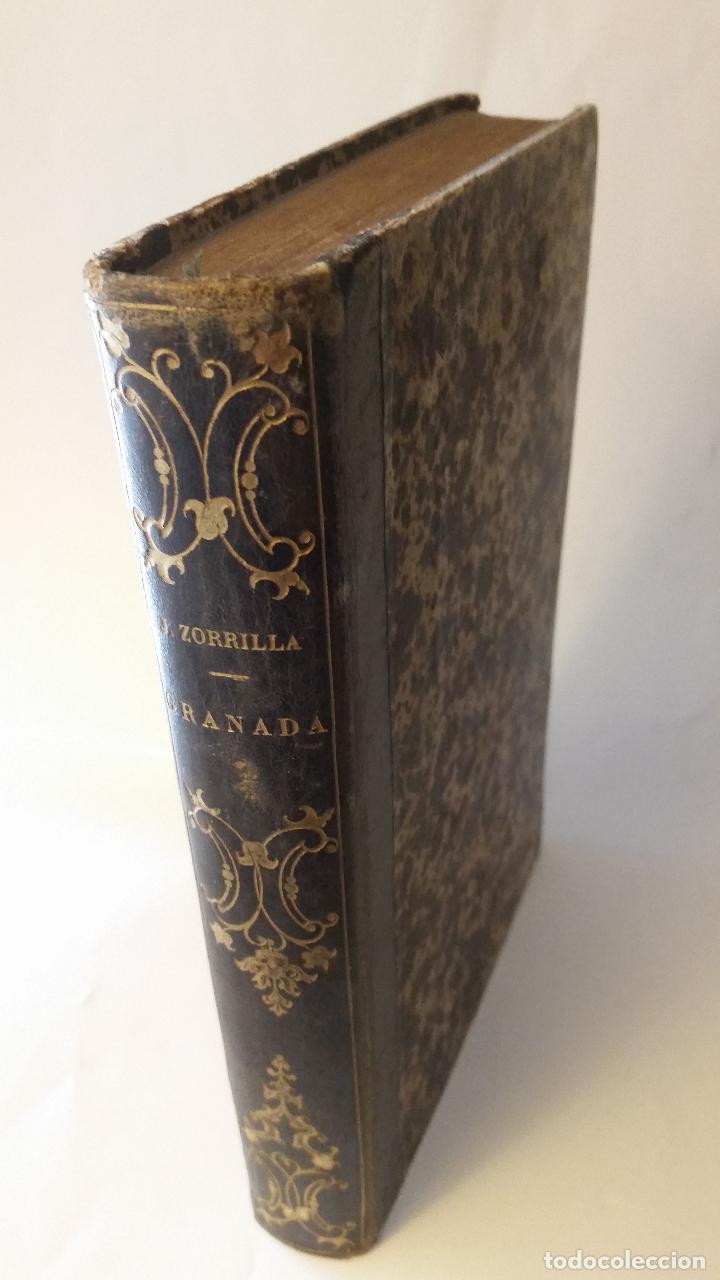 1852 - JOSÉ ZORRILLA - GRANADA. POEMA ORIENTAL - TOMO II, 1ª ED. (Libros antiguos (hasta 1936), raros y curiosos - Literatura - Poesía)
