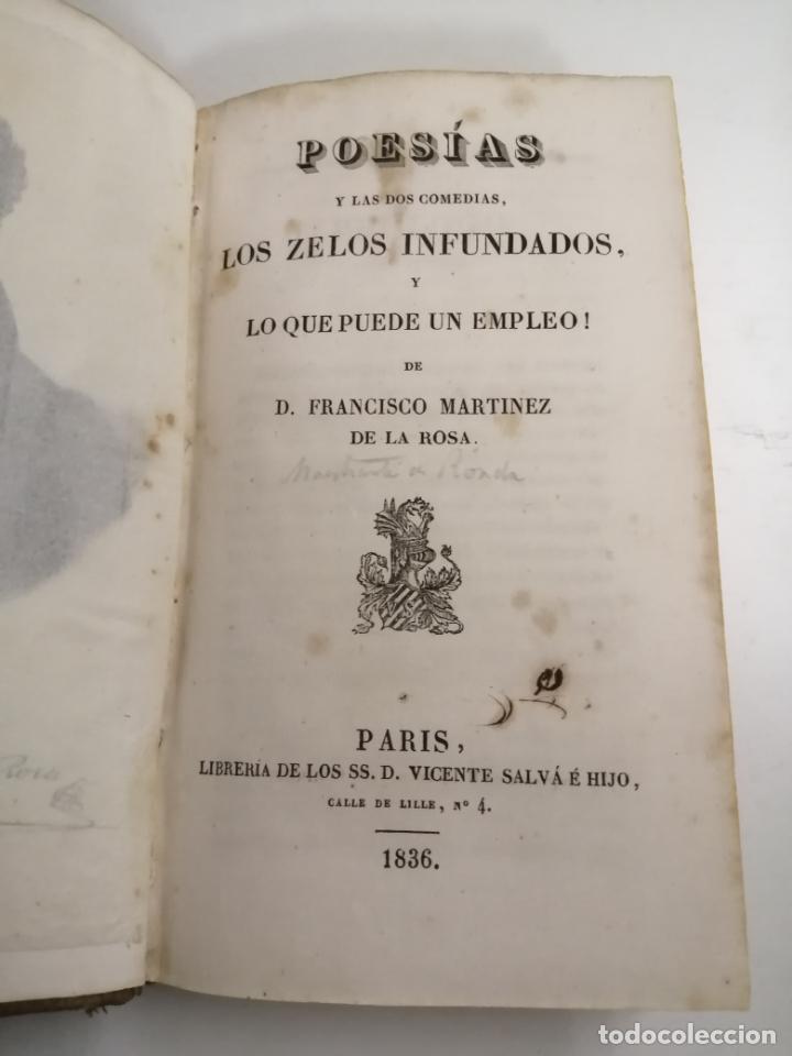 POESÍAS Y LAS DOS COMEDIAS, LOS ZELOS INFUNDADOS. FCO. MARTINEZ DE LA ROSA. 1836 PARÍS. (Libros antiguos (hasta 1936), raros y curiosos - Literatura - Poesía)