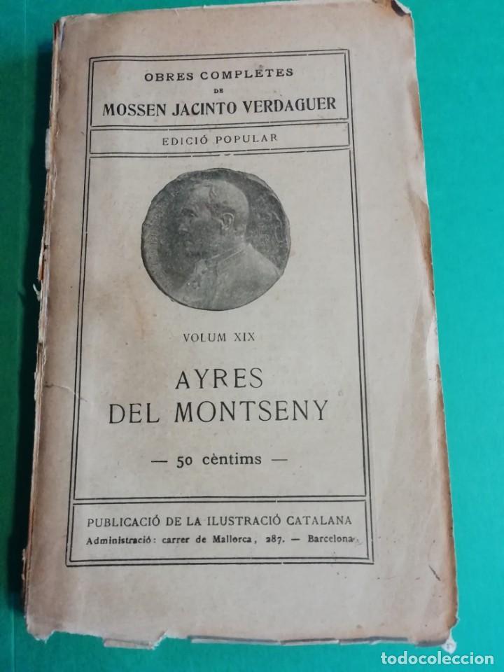 AYRES DEL MONTSENY MOSSEN JACINTO VRRDAGUER AÑO 1901 (Libros antiguos (hasta 1936), raros y curiosos - Literatura - Poesía)