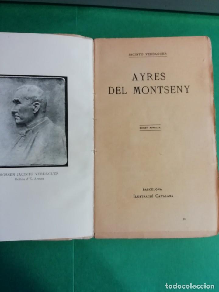 Libros antiguos: AYRES DEL MONTSENY MOSSEN JACINTO VRRDAGUER AÑO 1901 - Foto 2 - 206362301