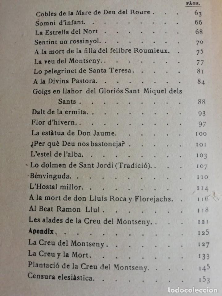 Libros antiguos: AYRES DEL MONTSENY MOSSEN JACINTO VRRDAGUER AÑO 1901 - Foto 4 - 206362301