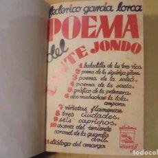 Libros antiguos: GARCIA LORCA. POEMA DEL CANTE JONDO. 1931. 1ª EDICIÓN. CUBIERTA REPRODUCIDA. Lote 206561468