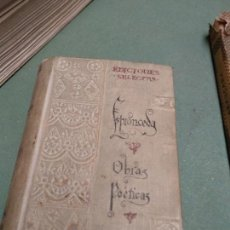 Libros antiguos: ESPRONCEDA : OBRAS POÉTICAS (SELECTAS RIVADENEYRA, C. 1900). Lote 206817490