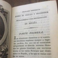 Libri antichi: TRATADO HISTÓRICO SOBRE EL ORIGEN Y PROGRESOS DE LA COMEDIA Y DEL HISTRIONISMO. 2T.1804. Lote 207166491