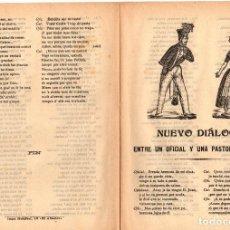 Libri antichi: PLIEGO CORDEL NUEVO DIALOGO ENTRE UN OFICIAL Y UNA PASTORA CATALANA. C. 1870. Lote 207726047