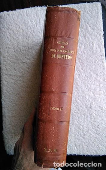 Libros antiguos: Francisco de Quevedo · Obras Festivas, Satíricas y Serias. Tomo II. Valencia, 1882 - Foto 3 - 208147670