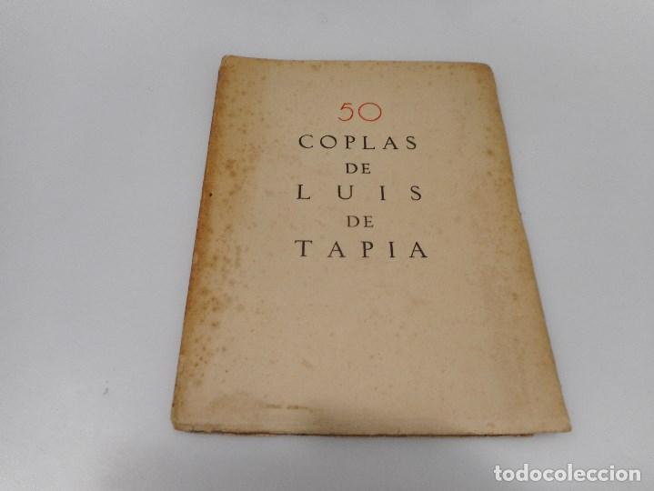 LUIS DE TAPIA 50 COPLAS DE LUIS DE TAPIA Q1145WAM (Libros antiguos (hasta 1936), raros y curiosos - Literatura - Poesía)