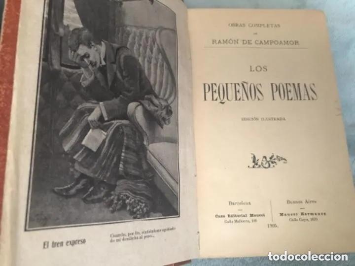 ANTIGUO LIBRO LOS PEQUEÑOS POEMAS RAMÓN CAMPOAMOR 1905 (Libros antiguos (hasta 1936), raros y curiosos - Literatura - Poesía)