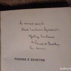 Libros antiguos: POEMAS E SONETOS. RONALD DE CARVALHO DEDICADO POR EL AUTOR 1919 AUTOGRAFIADO. EN PORTUGUÉS. Lote 209632202