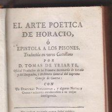 Libros antiguos: TOMÁS DE IRIARTE: EL ARTE POÉTICA DE HORACIO TRADUCIDA EN VERSO CASTELLANO. 1777. CANARIAS. Lote 210525805