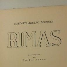 Livres anciens: RIMAS BÉCQUER. 1936. EDICIÓN NUMERADA.. Lote 211441065