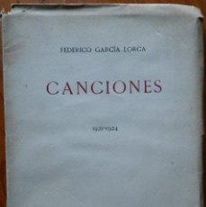 Livres anciens: CANCIONES 1921-1924, FEDERICO GARCÍA LORCA. ED. REVISTA DE OCCIDENTE 1929. Lote 212223953