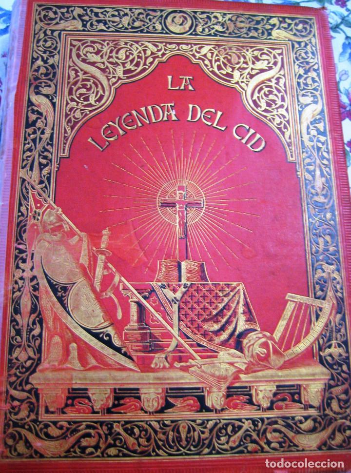LEYENDA DEL CID- ZORRILLA (VERSO) 1882- COLECCIONISTAS Y BIBLIOFILOS- BUEN ESTADO- (Libros antiguos (hasta 1936), raros y curiosos - Literatura - Poesía)