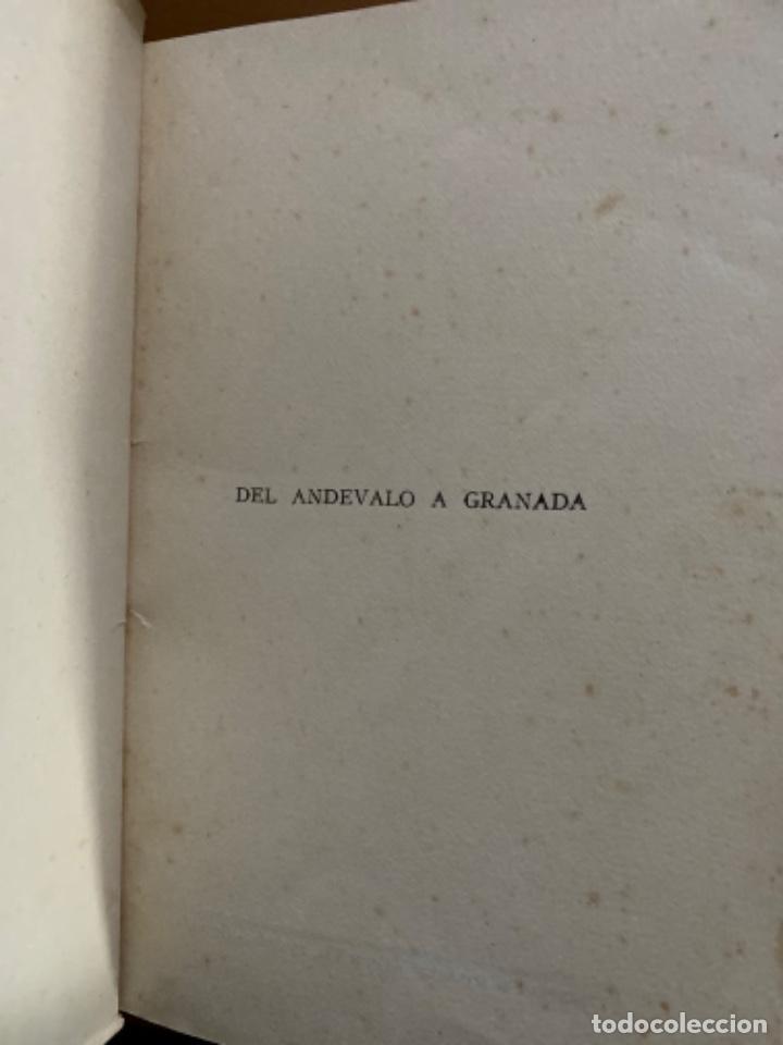 Libros antiguos: ANTIGUO LIBRO DEL ANDEVALO A GRANADA POEMAS ANGEL HORTAL - Foto 2 - 212697141