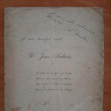 Livres anciens: 1899 EDICIÓN DE POESÍA DE FREDERIC RAHOLA DEDICADA A JOAN SELLARÉS - EN CATALÁN. Lote 213041751
