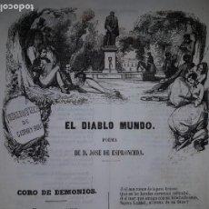 Libros antiguos: EL DIABLO MUNDO - JOSÉ DE ESPRONCEDA - 1852. Lote 214581257