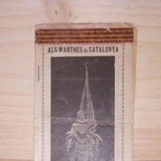 Livres anciens: LIBRILLO ALS MARTRES DE CATALUNYA. 1714-1914. Lote 214751735
