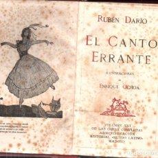 Libros antiguos: RUBÉN DARÍO : EL CANTO ERRANTE (MUNDO LATINO, 1918) - ILUSTRADO POR OCHOA. Lote 214866392