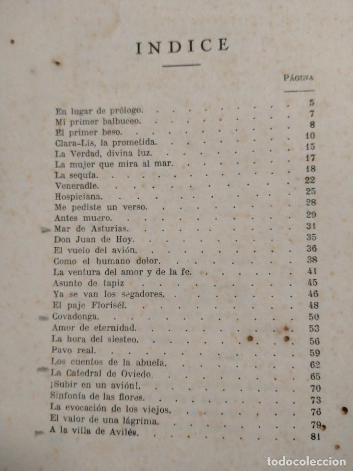 Libros antiguos: RIMAS SENCILLAS. CARLOS GARCIA ROSALES. TALLERES TIPOGRAFICSO REGION, OVIEDO 1930. CON SEÑALES DE US - Foto 4 - 215066013
