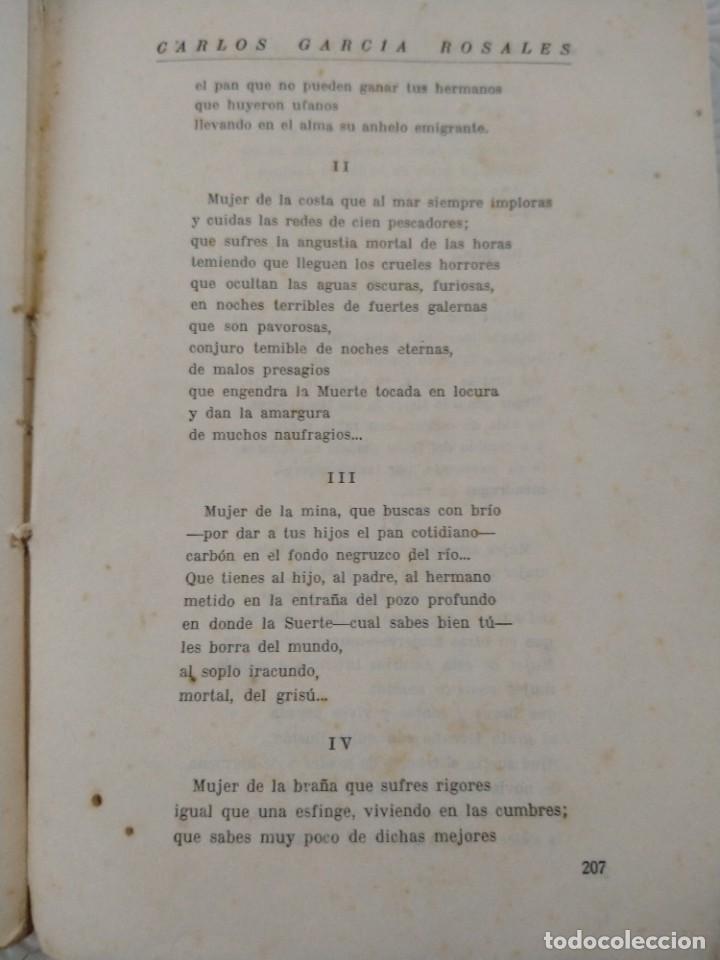 Libros antiguos: RIMAS SENCILLAS. CARLOS GARCIA ROSALES. TALLERES TIPOGRAFICSO REGION, OVIEDO 1930. CON SEÑALES DE US - Foto 10 - 215066013