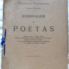 Libros antiguos: FESTAS DO CENTENÁRIO (MDLXXX-MDCCCLXXX) [CAMÕES] - HOMENAGEM DOS POETAS. Lote 217058898