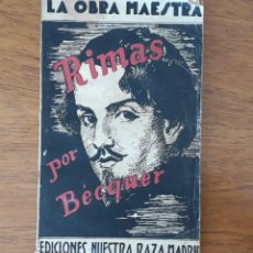 Libros antiguos: ANTIGUO ELJEMPLAR RIMAS DE A.BEQUER 1938. Lote 218052068