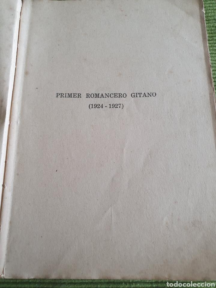Libros antiguos: Romancero gitano Federico García lorca 1935 espada calpe - Foto 3 - 218508016
