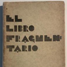 Libros antiguos: WIFREDO PI. EL LIBRO FRAGMENTARIO. Lote 205248888