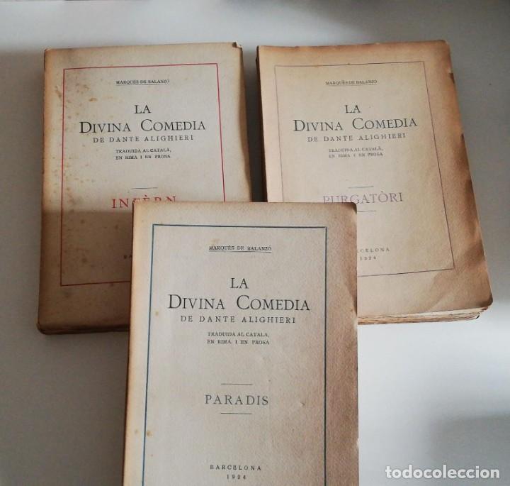 MEDIA DE DANTE ALIGHIERI TRADUIDA AL CATALA EN RIMA I EN PROSA 3 TOMOS: INFERN, PARADIS, PURGATORI. (Libros antiguos (hasta 1936), raros y curiosos - Literatura - Poesía)