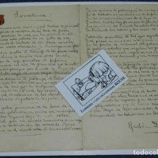 Libros antiguos: CARTA POEMA MANUSCRITO Y FIRMADO POR RUBÉN DARÍO - POEMA SONATINA, ORIGINAL. Lote 221277868