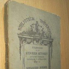 Libros antiguos: ROMANCERO MORISCO TOMO SEGUNDO 1873 SRIBAU SUCESORES RIVADENEYRA X+206. Lote 221946283