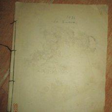 Libros antiguos: LA CUEVA MANUSCRITO LIBRO INEDITO ORIGINAL DE CARLOS HERRERO MUÑOZ REPRESALIADO POR EL REGIMEN. Lote 221952186