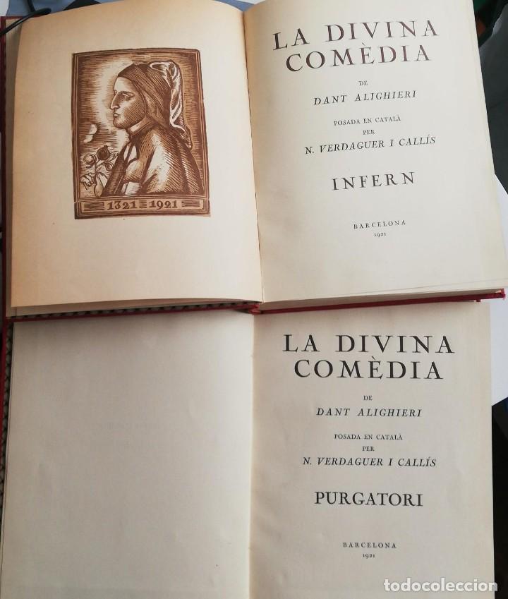LA DIVINA COMÈDIA 2 TOMOS: INFERN I PURGATORI (1921) EN CATALÁN (Libros antiguos (hasta 1936), raros y curiosos - Literatura - Poesía)