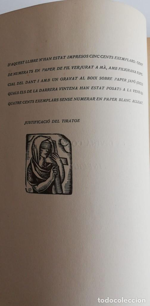 Libros antiguos: LA DIVINA COMÈDIA 2 TOMOS: INFERN I PURGATORI (1921) en Catalán - Foto 4 - 222030508