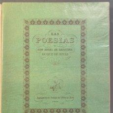 Libros antiguos: LAS POESÍAS DE DON ÁNGEL SAAVEDRA, DUQUE DE RIVAS.. Lote 222540993