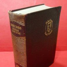 Libros antiguos: RUBÉN DARÍO, POESÍAS COMPLETAS, AGUILAR 1954. Lote 223389162