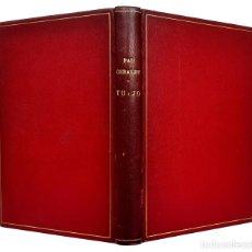 Livres anciens: 1933 - BIBLIOFILIA, POESÍA - PAU GERALDY: TU I JO - ENCUADERNACIÓN DE LUJO EN PIEL - ILUSTRADO. Lote 224549555