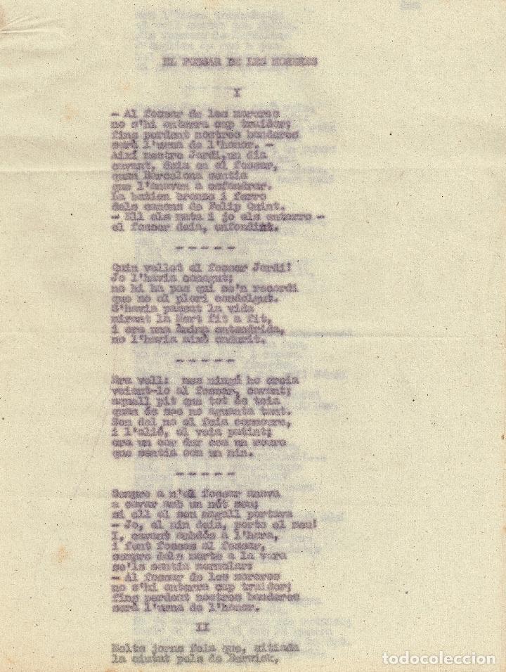 AÑOS 30 ¿? FREDERIC SOLER Y HUBERT (SERAFÍ PITARRA) POEMA EL FOSSAR DE LES MORERES (1884) COMPLETO (Libros antiguos (hasta 1936), raros y curiosos - Literatura - Poesía)