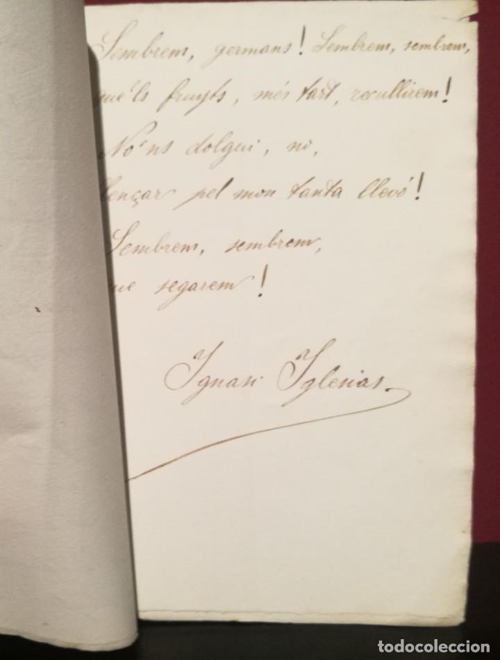 Libros antiguos: MANUSCRITO ORIGINAL PARA EL POEMA LA SEMBRA DE IGNASI IGLESIAS (1871-1928) - Foto 2 - 226596925