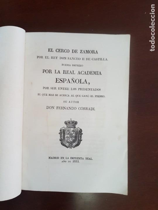 EL CERCO DE ZAMORA, POR EL REY DON SANCHO II DE CASTILLA - 1833 (Libros antiguos (hasta 1936), raros y curiosos - Literatura - Poesía)