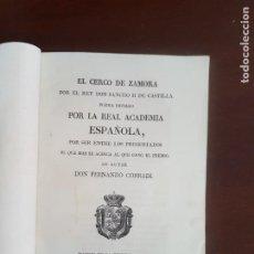 Livros antigos: EL CERCO DE ZAMORA, POR EL REY DON SANCHO II DE CASTILLA - 1833. Lote 228738915