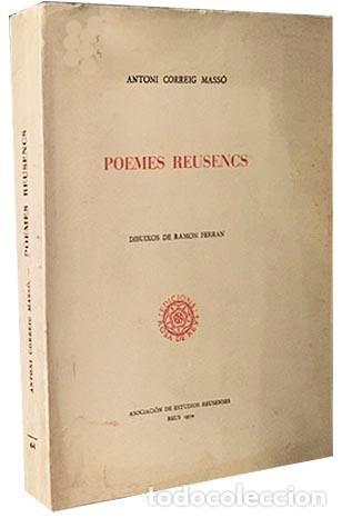 Libros antiguos: Correig : Poemes Reusencs (Reus. Tirada numerada en papel de hilo de 30 ejemplares. - Foto 3 - 230214160