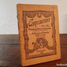 Libros antiguos: CAMPOAMORIANA - PENSAMIENTOS POETICOS DE CAMPOAMOR - BIBLIOTECA HISPANIA, 1918, MADRID. Lote 230754265