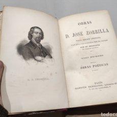 Libros antiguos: OBRAS POÉTICAS D.JOSE ZORRILLA. PARIS, HERMANOS GARNIER. S.XIX. Lote 233150910