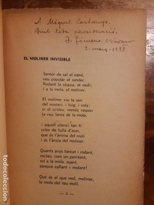 Libros antiguos: El moliner invisible J. Gimeno-Navarro dedicado - Foto 3 - 233592120