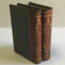Libros antiguos: POESIAS. (I) POESIAS LIGERAS, FESTIVAS Y SATIRICAS. (II) POESIAS SERIAS - PRINCIPE, MIGUEL AGUSTÍN.. Lote 234861620