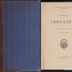 Libros antiguos: POESIAS DE CERVANTES COMPILADAS Y PROLOGADAS POR RICARDO ROJAS - A-POE-2032. Lote 235158515